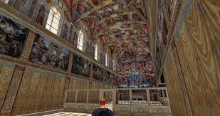 sistine chapel as a 3d virtual reality simulation