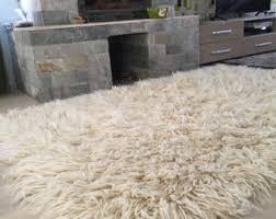 Flokati Wool Rug Wool Area Rug Etsy