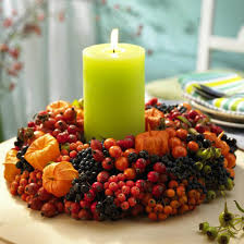 centerpieces with candles 11 candles centerpieces with rowan berries and hips