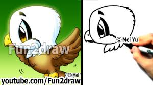 fun2draw thanksgiving how to draw a cute chibi eagle in 2 min playlist drawing