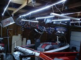 strips of led lights garage with strips
