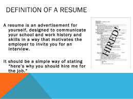 Resume Definition Job by Katherine Purcell Resume Presentation