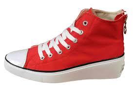 Converse High Heels Red Converse High Tops All Women Of The Platform Heel Sneakers