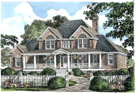 house plan brick house plans with porches planskill grand home