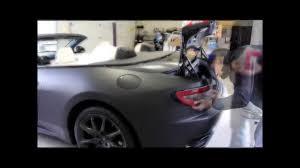 maserati granturismo convertible black maserati granturismo s convertible matte black vinyl wrap