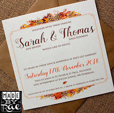 autumn wedding invitations autumn wedding invitations ebay