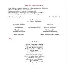 wedding program format wedding program templates 15 free word pdf psd documents