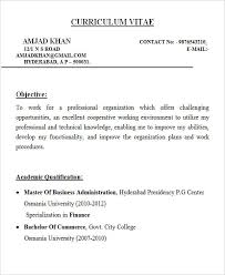 Sample Resume For Mba Finance Freshers by 28 Free Fresher Resume Templates Free U0026 Premium Templates