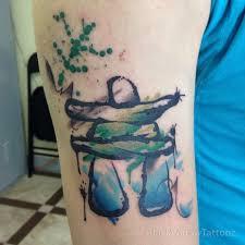 black widow custom tattoo u0026 design labrador watercolour inukshuk