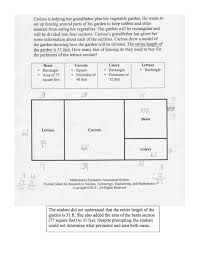 Area And Perimeter Worksheets 4th Grade What Is The Perimeter Of The Lettuce Section Students Are Asked