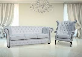 Discount Chesterfield Sofa Buy White Leather Chesterfield Sofa Chair Set
