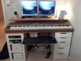 ikea hackers integrated computer music work desk musicstudio