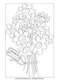 coloring pages mothers day flowers mother s day