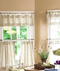 Country Style Kitchen Curtains And Valances Country Style Curtains Valances Ticking Stripes Cafe Curtains