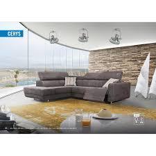 canap relax moderne canapé d angle droit moderne coloris marron en tissu avec relax