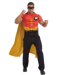 halloween costume with cape robin muscle shirt with cape halloween accessory walmart com
