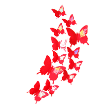 Butterfly 3d Wall Art by Wall Stickers Decal Butterflies 3d Wall Art Home Decors Butterfly