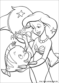 mermaid coloring picture