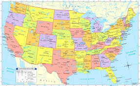 united states map with states and capitals and major cities the united states map with cities angelr me