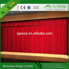 flame resistant electric velvet stage curtain motorized theater