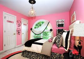pink wall bedroom color ideas with warm lamp and elegant bed