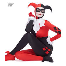 harley quinn jumpsuit s8434 dc bombshell harley quinn costume pattern jaycotts co uk