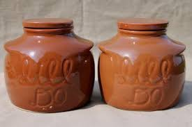 pottery canisters kitchen vintage ceramic bean pots or kitchen crock jars it ll do canisters