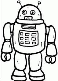 robot coloring sheets coloring