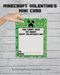 minecraft cards printable s day cards