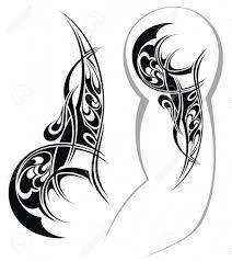 tribal arm tattoos designs tattoo design royalty free cliparts