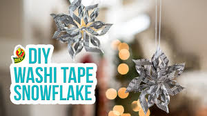 how to craft a duck washi tape snowflake youtube