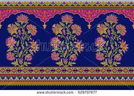 seamless traditional indian motif stock illustration 673179967