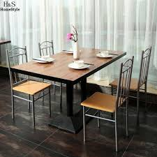 European Bistro Chair Ancheer 4pcs Set Dining Chair Metal Cafe Chair Seat Bistro