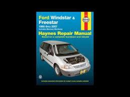 online car repair manuals free 1995 ford windstar engine control download ford windstar freestar 1995 2007 repair manual haynes