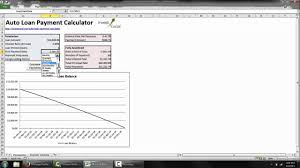 Amortization Calculator Spreadsheet Calculate Auto Loan Payments In Excel Youtube