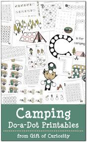 camping do a dot printables free printables worksheets and