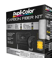 automotive carbon fiberpaint aerosol kit dupli color