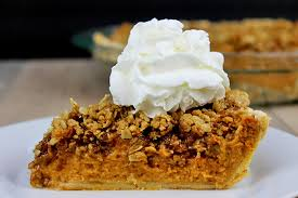 pumpkin pecan streusel pie dinner then dessert
