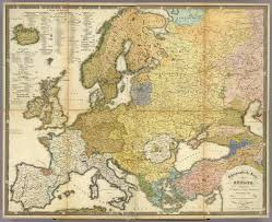 World Map Of Europe by A German Ethnic Map Of Europe 1847 1800x1469 Mapporn
