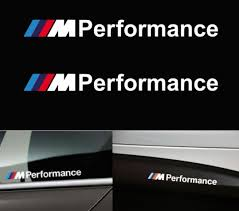 logo bmw m m performance decal sticker m sport white amazon co uk car
