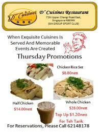 promo cuisines thursday promo d cuisines sia sports