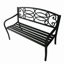 iron park benches 50 inch steel park bench made of cast iron and steel pipe