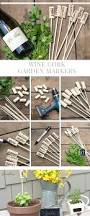 diy vegetable garden tags wine cork garden markers cambria wines