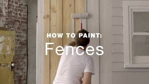 how to paint an exterior fence youtube