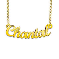 gold plated name necklace goldplated name necklace model chantal