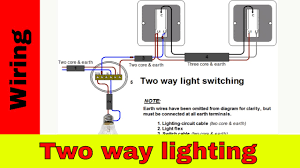how to wire two way light switch two way lighting circuit youtube