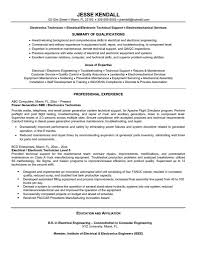 Quality Engineer Resume Sample Electronic Technician Resume Sample Resume For Your Job Application