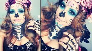Halloween Skeleton Makeup Ideas Sugar Skull Makeup And Ideas Mugeek Vidalondon