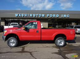 2011 vermillion red ford f250 super duty xl regular cab 4x4