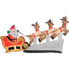 santa sleigh and reindeer 6 floating santa sleigh with reindeers airblown
